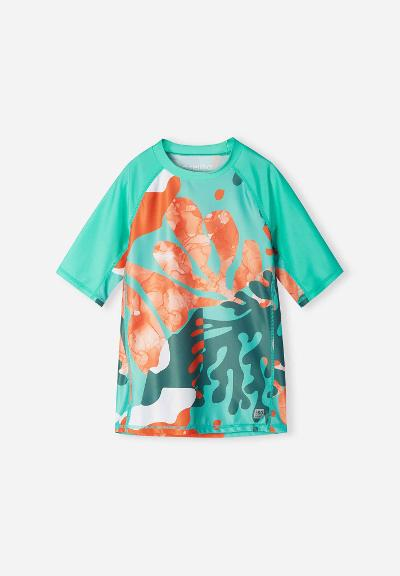 UV svømme T-shirt Uiva Reef green
