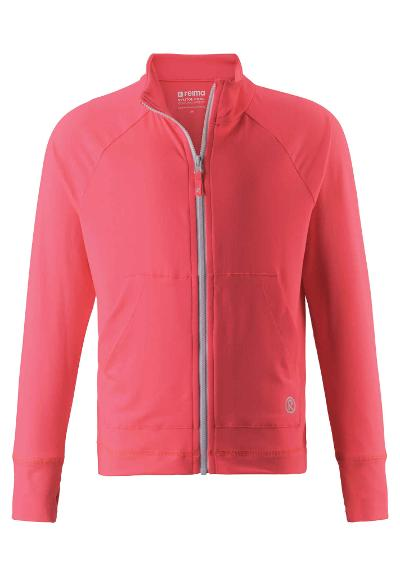 Kinder Sweatjacke Block   Neon Red