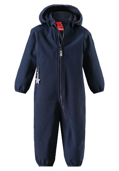 Toddlers' softshell overall Kotilo Navy