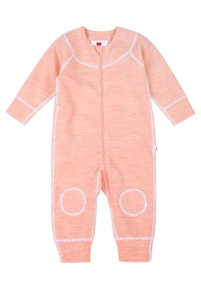 Ulldress til baby Lauha Powder pink