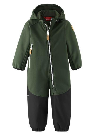 Toddlers' softshell jumpsuit Mjosa Dark green
