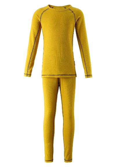 Kids' base-layer set Lani Dark yellow