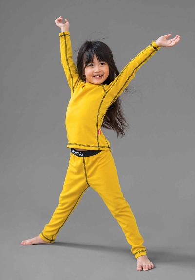 Kids' base layer set Lani Yellow