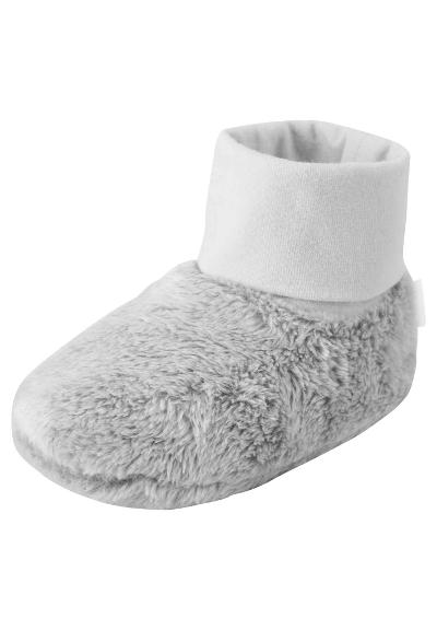 Babies' fleece booties Vargtass Light grey