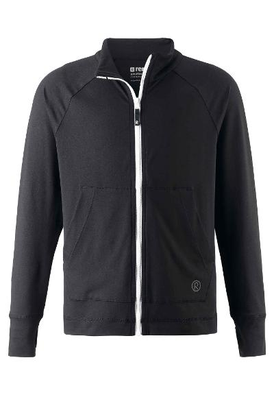 Kids' zip-up sweat top Brygge Black