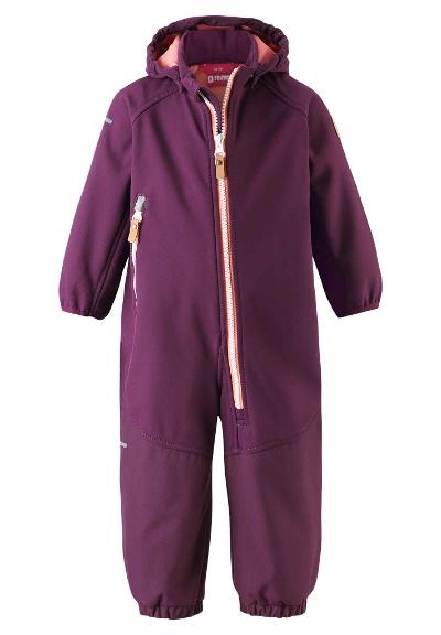Toddlers' softshell jumpsuit Mjosa Deep purple