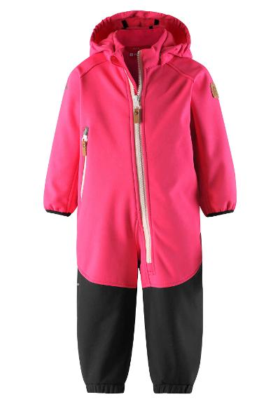 Kleinkinder Softshell Overall Mjosa Candy pink