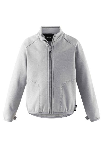 Kids' sweat jacket Toimiva Melange grey