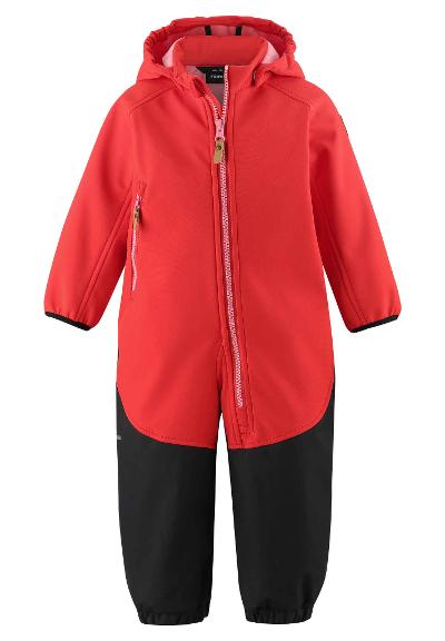 Toddlers' softshell jumpsuit Mjosa Tomato red