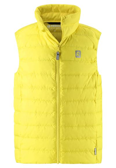 Kinder Daunenweste Fauna Lemon yellow