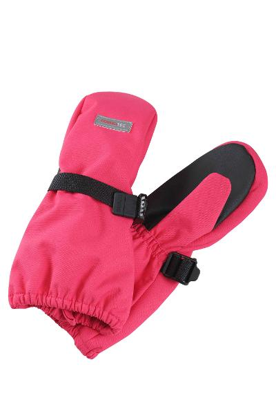 Kids' waterproof mittens Askare Berry pink