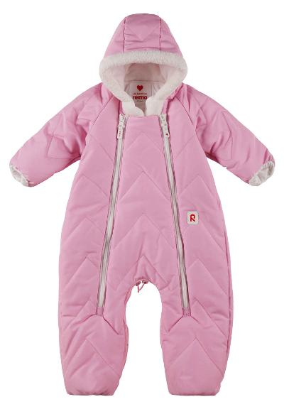 Flyverdragt/sovepose til baby Nalle Light pink