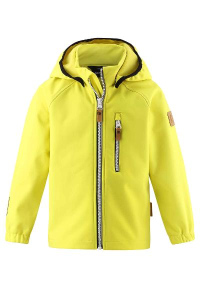 Kinder Softshell Jacke Vantti Lemon yellow