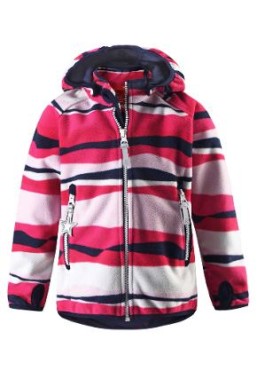 Kids' windfleece jacket Vuoksi Red