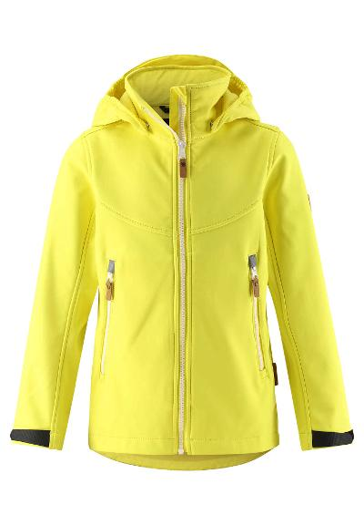 Kinder Softshell Jacke Vandra Lemon yellow