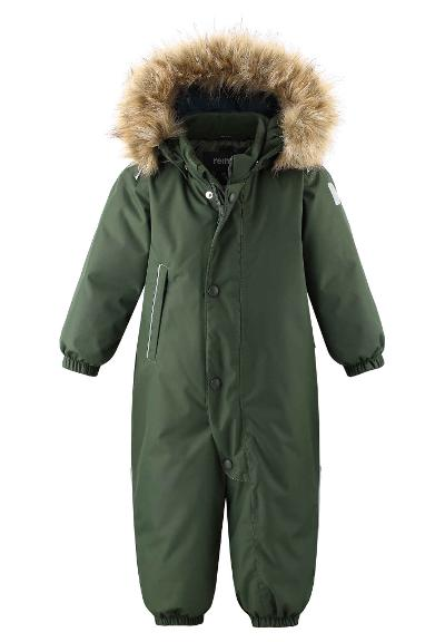 Toddlers' winter snowsuit Gotland Dark green