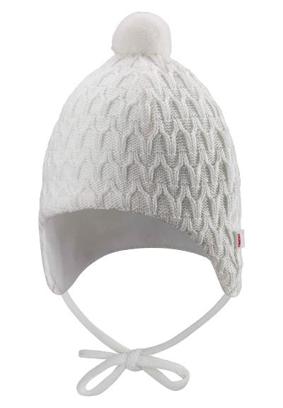 Babies' wool beanie Unetus Off white