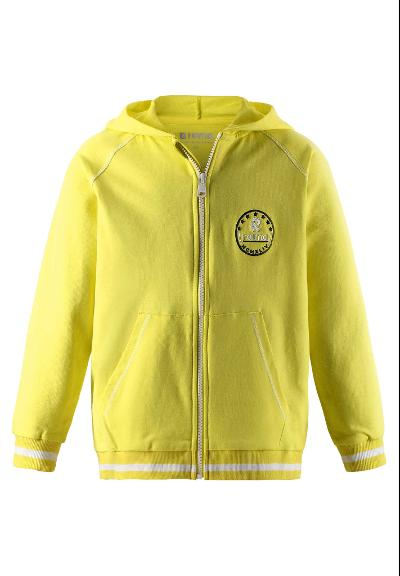 Kinder Sweatjacke Ersta  Lemon yellow