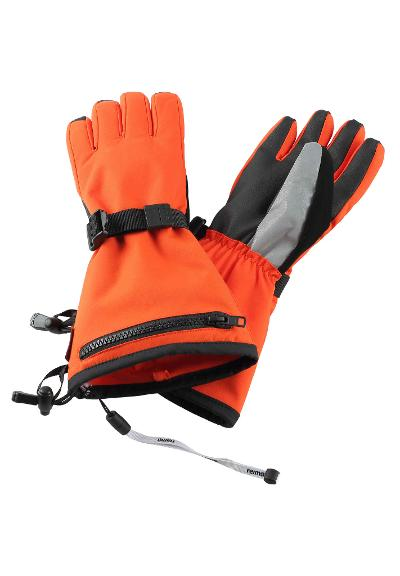 Barn skidhandskar Viggu Orange