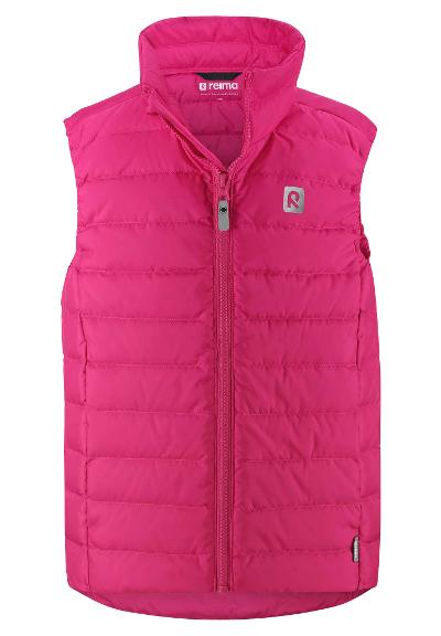 Kids' down vest Fauna Raspberry pink