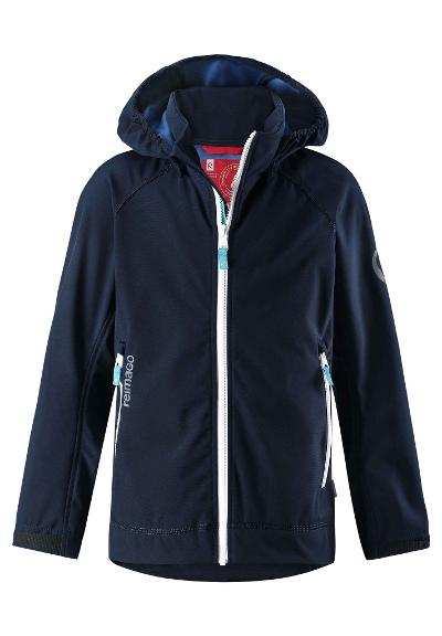 Juniors' softshell jacket Auger Navy