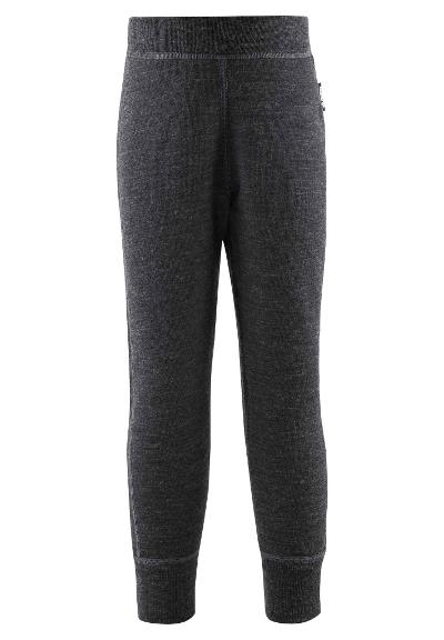 Kids' wool trousers Misam Black melange