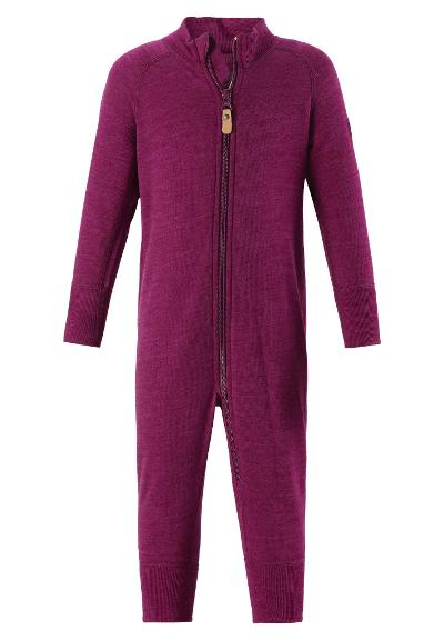 Toddlers' wool overall Parvin AW18 Dark berry