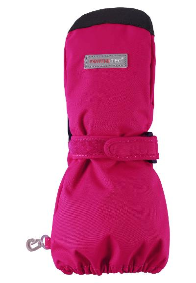 Waterproof kids' mittens Askare Cranberry pink