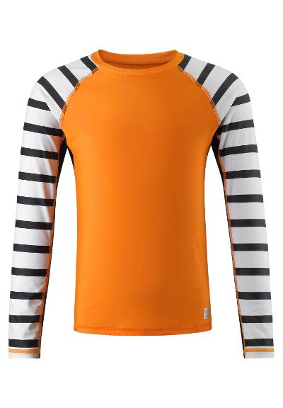 Kids' long sleeve swim shirt Madagaskar Orange