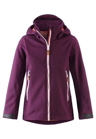 Kinder Softshell Jacke Vandra Deep purple