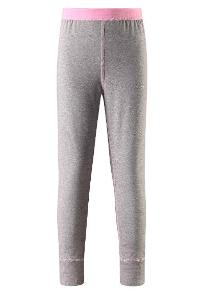 Barn baslager leggings Filz Melange grey