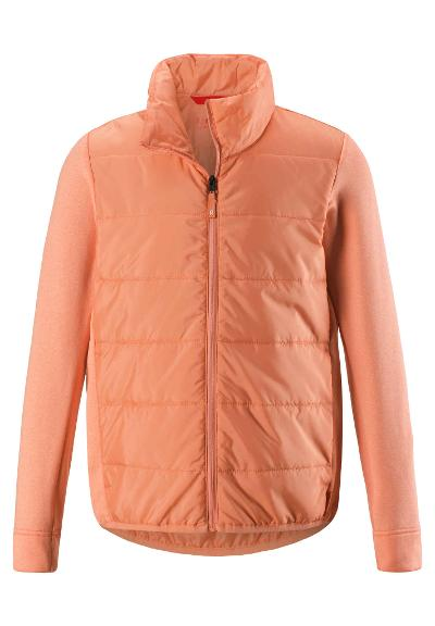 Kids' quilted jacket Hiili Coral Pink