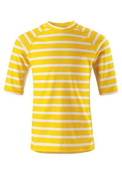 Kids' short-sleeved swim top Fiji Yellow