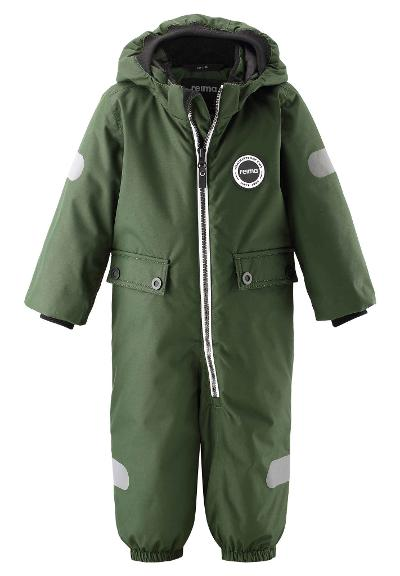 Toddlers' winter snowsuit Marte Dark green