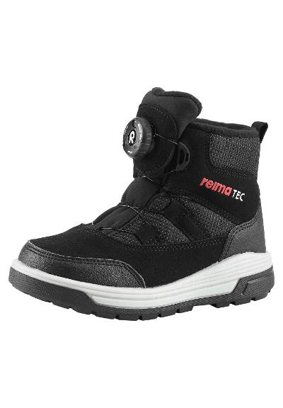 Kinder reflektierender Winterschuh Slither Flash Black