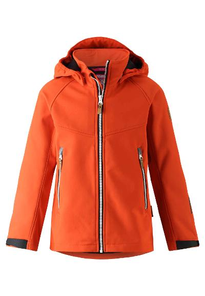 Barn softshell jacka Vild Orange