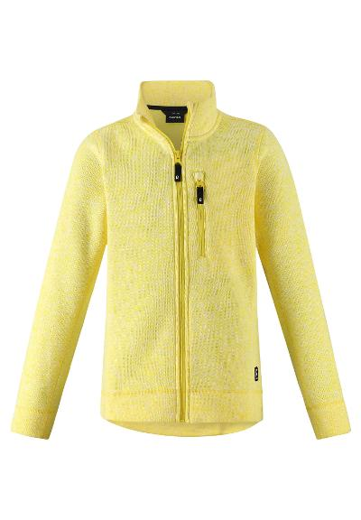 Kids' fleece jacket Maaret Lemon yellow