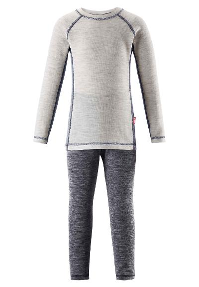 Juniors' baselayer set Talvi Melange grey