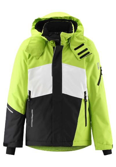 Kids' ski jacket Laks Lime green