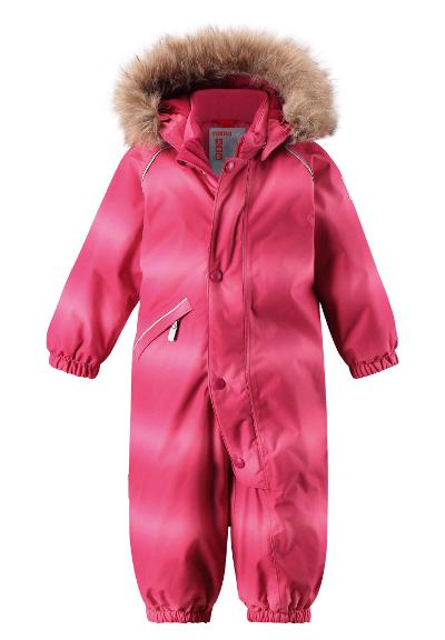 Toddlers' winter snowsuit Lappi Cranberry pink