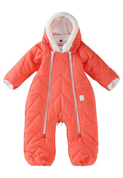 Babies' winter suit/sleeping bag Nalle Bright salmon