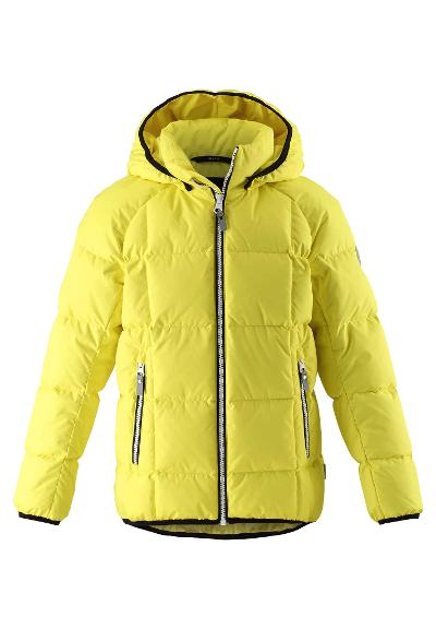 Kids' down jacket Jord Lemon yellow