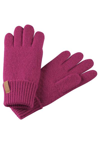 Kids' wool gloves Supi Cranberry pink