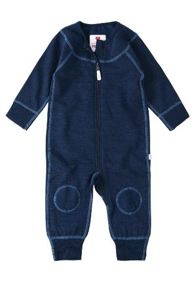 Babies' wool overall Lauha Navy