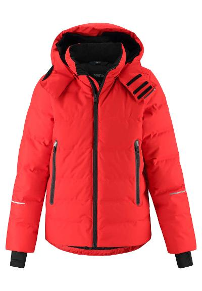 Kids' down ski jacket Wakeup Tomato red