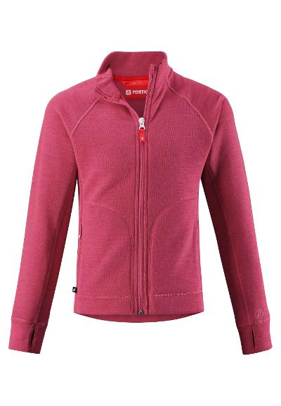 Kinder Jacke Seglvik Strawberry red