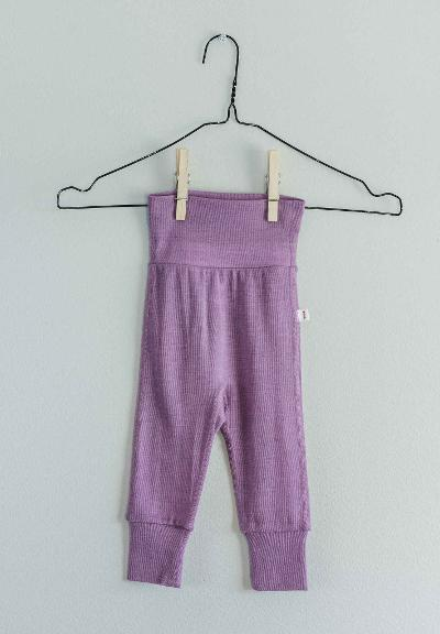 Babies' wool trousers Kotoisa Heather pink