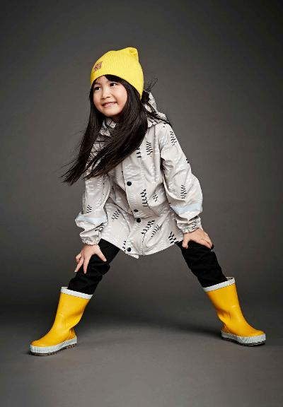 Kids' raincoat Vatten White sand