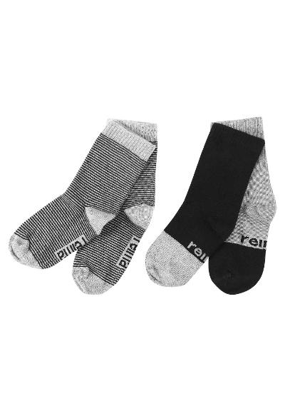 Kindersocken My Day 2er Pack  Melange grey