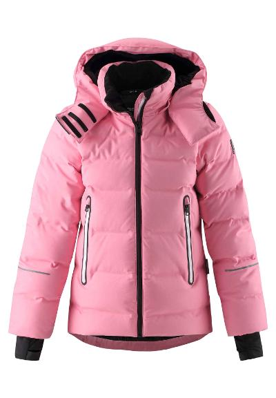 Kids' down ski jacket Waken Bubblegum pink